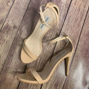 Steve Madden Nude Stecy Ankle Strap Heels